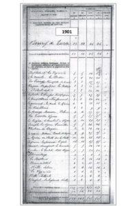 8 recensement 1901